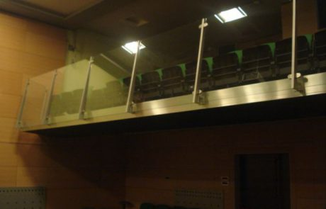 INOX ograja na balkonu v dvorani - Notranje Gorice